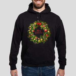 Christmas wreath Hoodie (dark)