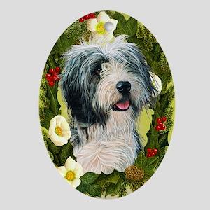 Bearded Collie Ornament (Oval)
