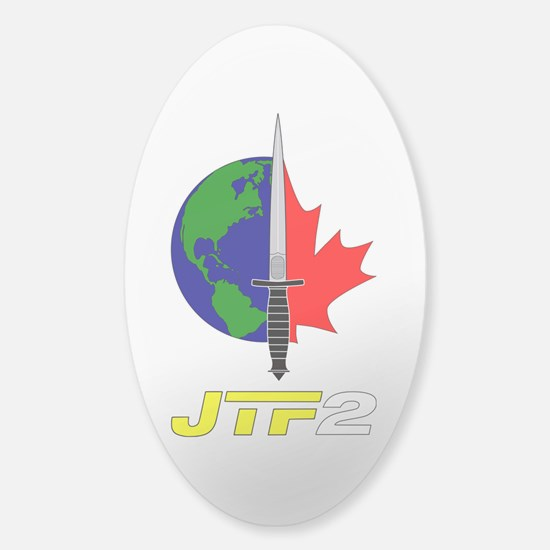 Joint Task Force 2 - Silver Sticker (Oval)