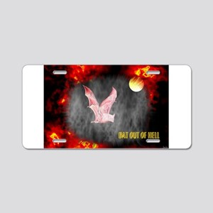 Jmcks Bat Out Of Hell Aluminum License Plate
