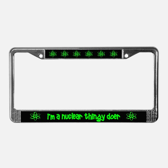 funny nuclear License Plate Frame