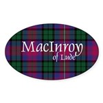 Tartan - MacInroy of Lude Sticker (Oval)