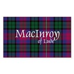 Tartan - MacInroy of Lude Sticker (Rectangle 50 pk
