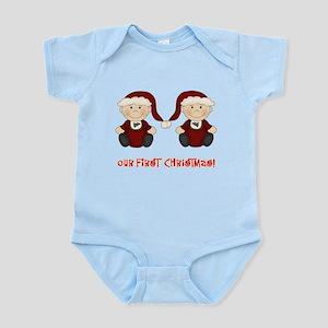 Twin Boys First Christmas Infant Bodysuit