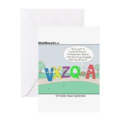 Irritable Vowels Greeting Card