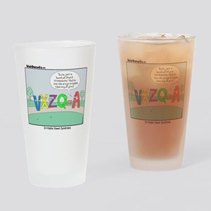 Irritable Vowels Drinking Glass