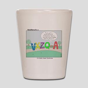 Irritable Vowels Shot Glass