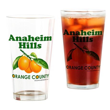 Anaheim Hills, Orange County Drinking Glass