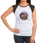 Chewie and Lucky Flag Women's Cap Sleeve T-Shirt