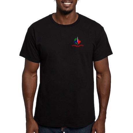 JTF-2 w Motto Men's Fitted T-Shirt (dark)