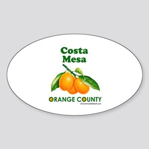 Costa Mesa, Orange County Sticker (Oval)