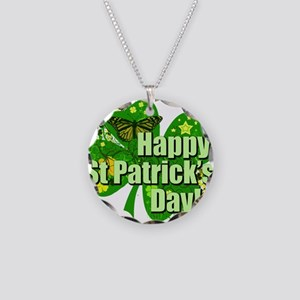 Happy St. Patrick's Day! Necklace Circle Charm