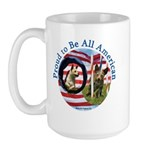 Chewie and Lucky Flag Large Mug