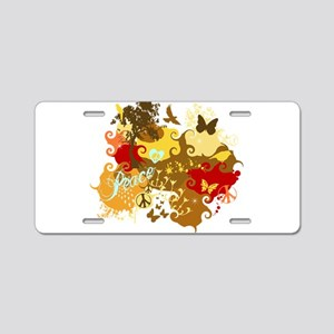 Peace Abstract Art Aluminum License Plate