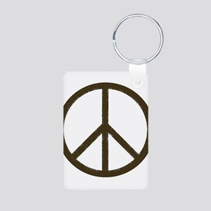 Cool Vintage Peace Sign Aluminum Photo Keychain