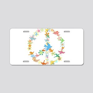 Abstract Art Peace Sign Aluminum License Plate