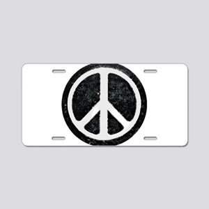 Original Vintage Peace Sign Aluminum License Plate