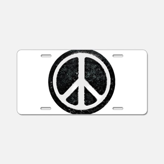 Original Vintage Peace Sign Aluminum License Plate