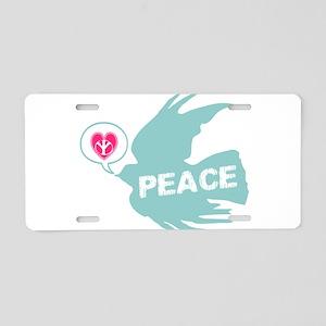 Peace Dove Anti war Aluminum License Plate