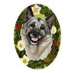 Elkhound Ornament (Oval)