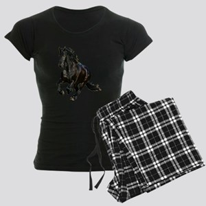 Black Stallion Horse Women's Dark Pajamas