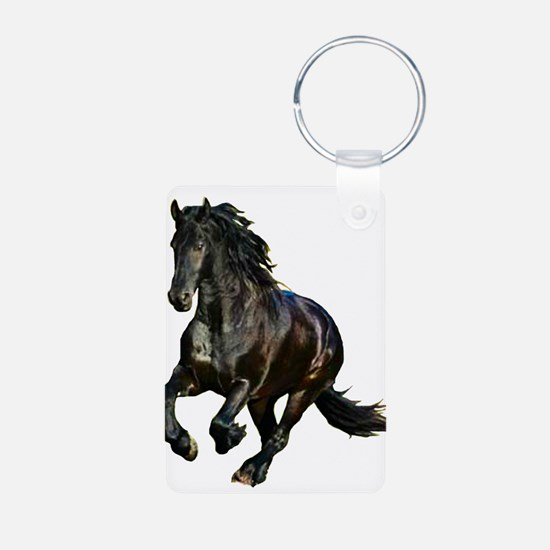 Black Stallion Horse Keychains