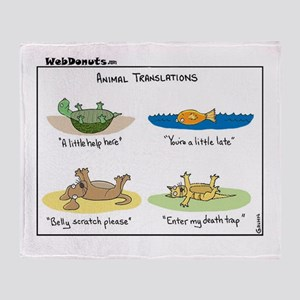 Animal Translations Throw Blanket