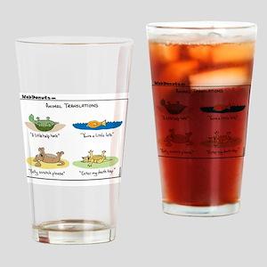 Animal Translations Drinking Glass