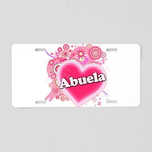Abuela Heart Art Aluminum License Plate