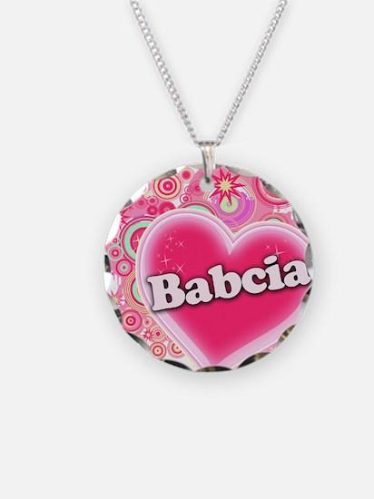 Babcia Heart Art Necklace