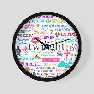 Twi Memories Pastel Wall Clock