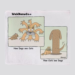 cats & dogs Throw Blanket
