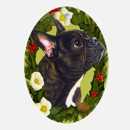French Bulldog Ornament (Oval)