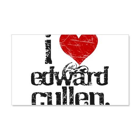 I Love Edward Cullen 22x14 Wall Peel