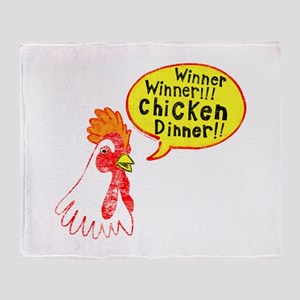 Winner Chicken Dinner Throw Blanket