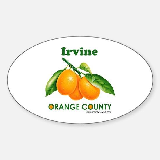 Irvine, Orange County Sticker (Oval)