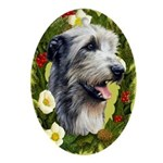 Irish Wolfhound Ornament (Oval)