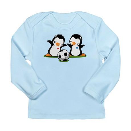 I Like Soccer (2) Long Sleeve Infant T-Shirt