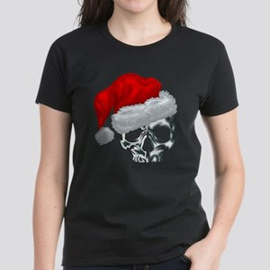 SANTA SKULL Women's Dark T-Shirt