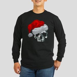 SANTA SKULL Long Sleeve Dark T-Shirt