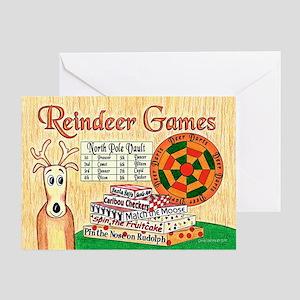 Reindeer Games Christmas Card