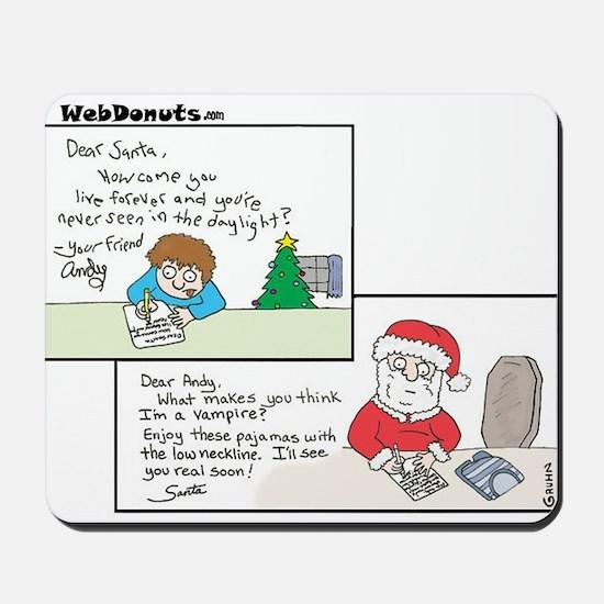 Vampire Santa Mousepad