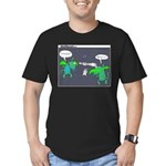 Astronaut Tetherball Men's Fitted T-Shirt (dark)