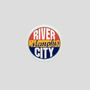 Memphis Vintage Label Mini Button
