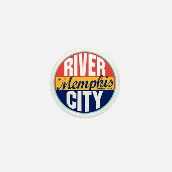 Memphis Vintage Label Mini Button