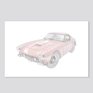 Ferrari 250 Lusso - red Postcards (Package of 8)