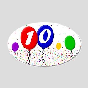 10th Birthday 22x14 Oval Wall Peel