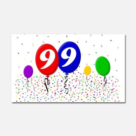99th Birthday Car Magnet 20 x 12