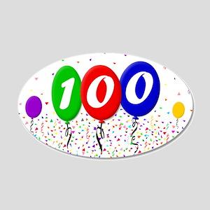 100th Birthday 22x14 Oval Wall Peel