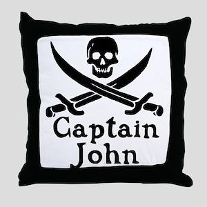 Captain John Throw Pillow